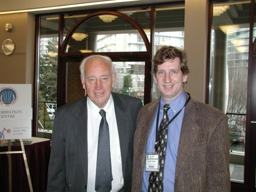 Ralph and Dr. Barnard at the 2nd annual world critical illness insurance conference